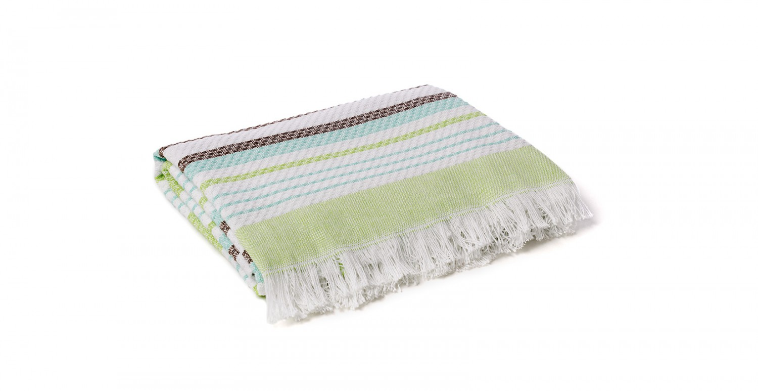 Throws and plaids - Hammam green | Newplaids