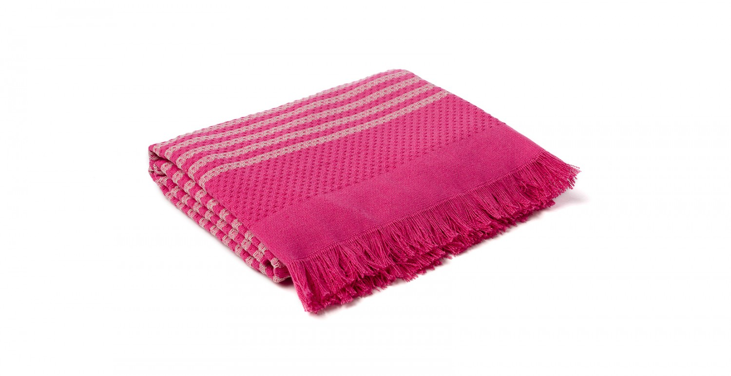 Throws and plaids - Hammam pink | Newplaids