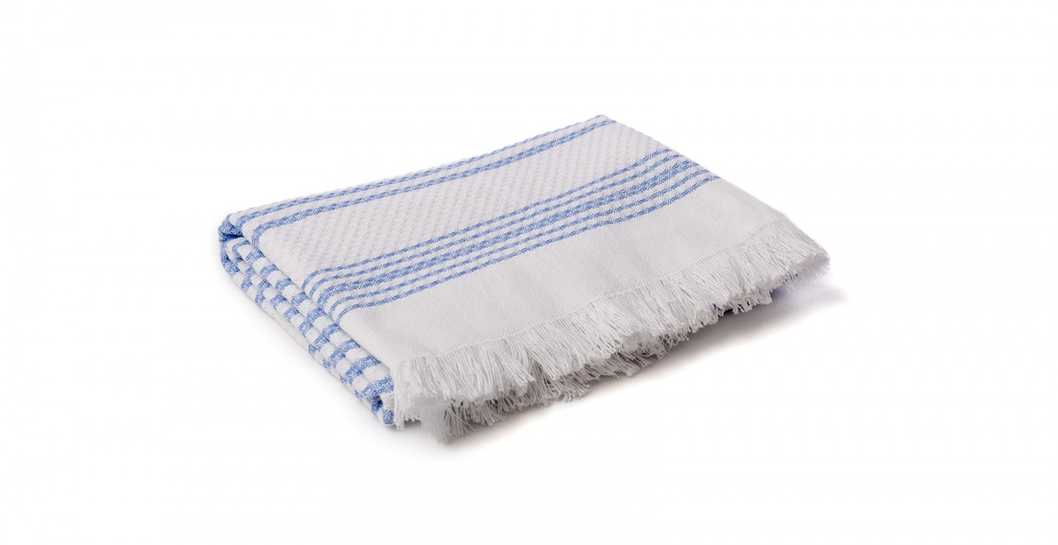 Throws and plaids - Hammam Blue | Newplaids